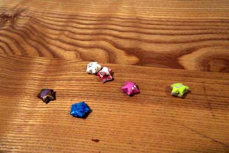 Etoiles origami de Sushila